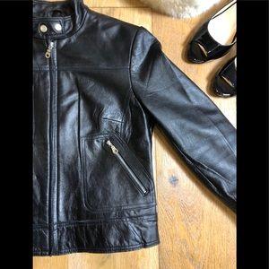 Bandolino Jackets & Coats - Bandolino leather black jacket women's small
